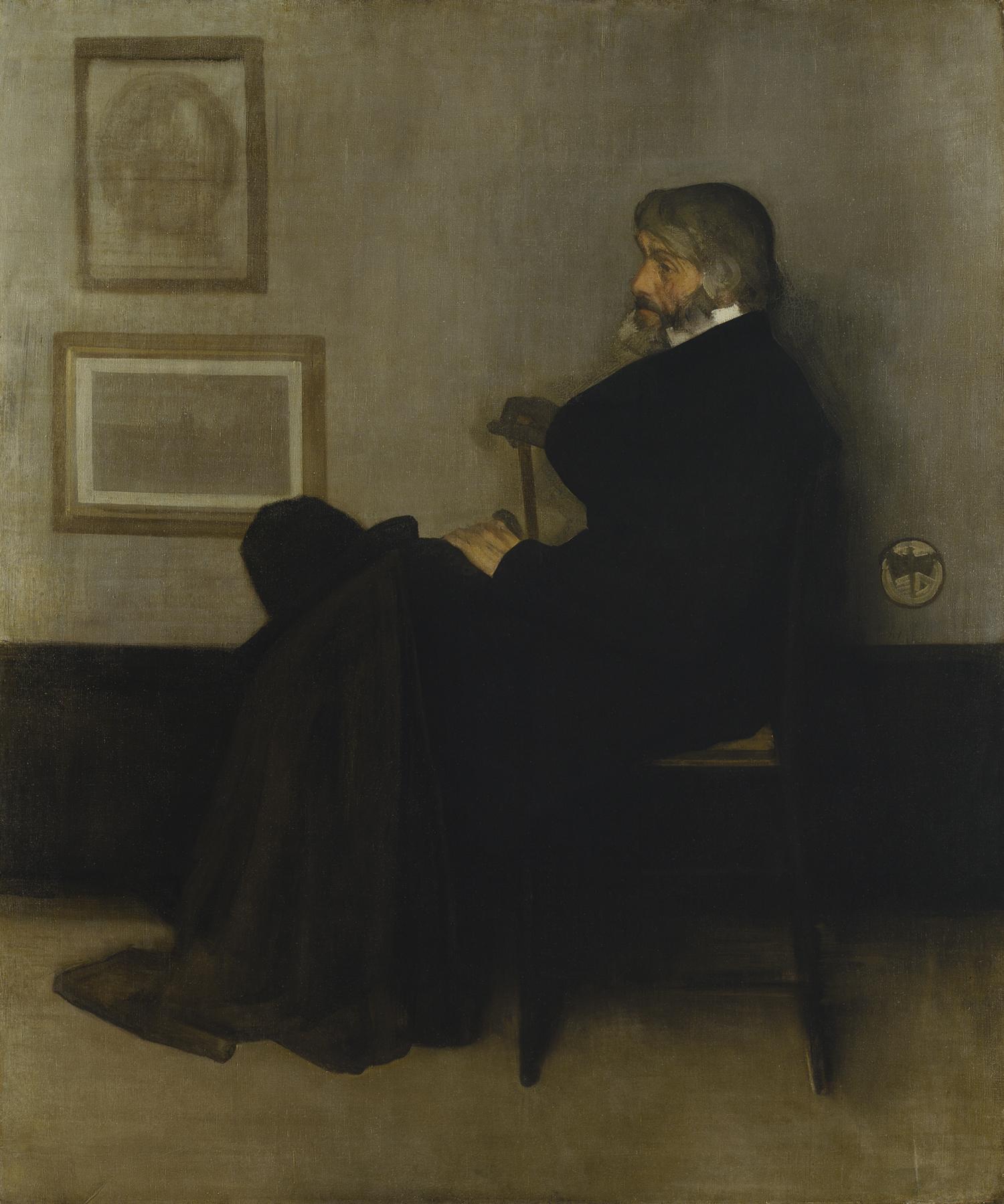 3 灰色と黒のアレンジメント No.2;トーマス・カーライルの肖像(グラスゴー美術館) (Unicode エンコードの競合)