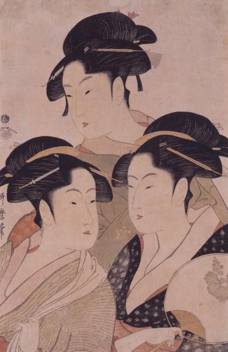 喜多川歌麿「当時三美人」