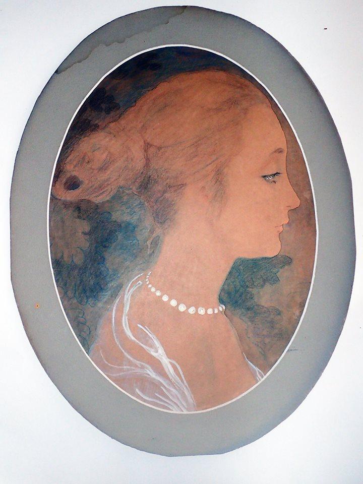 ⑤「若い女性の横顔」(1916)