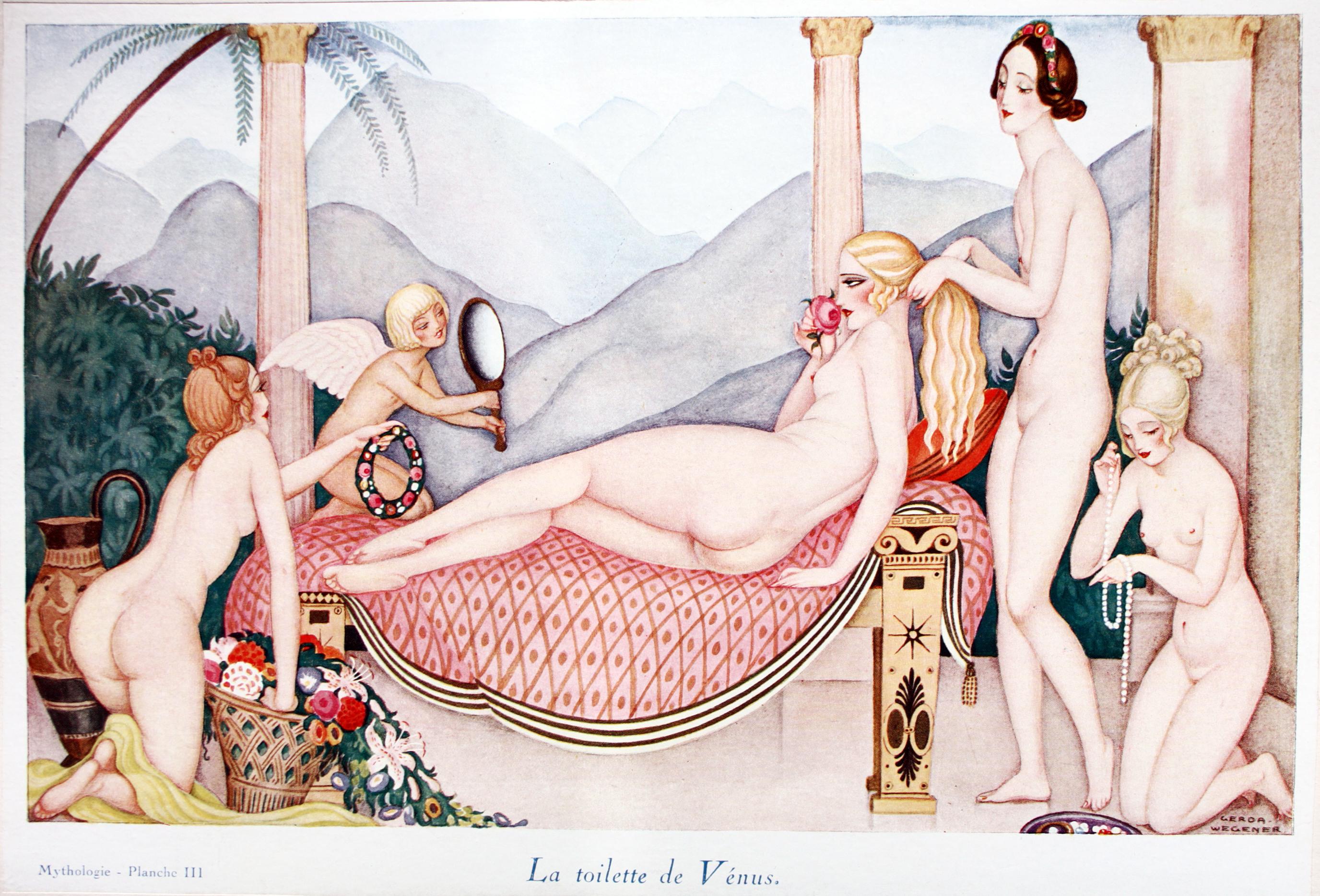 ⑦「ウエヌスの化粧」(1927)