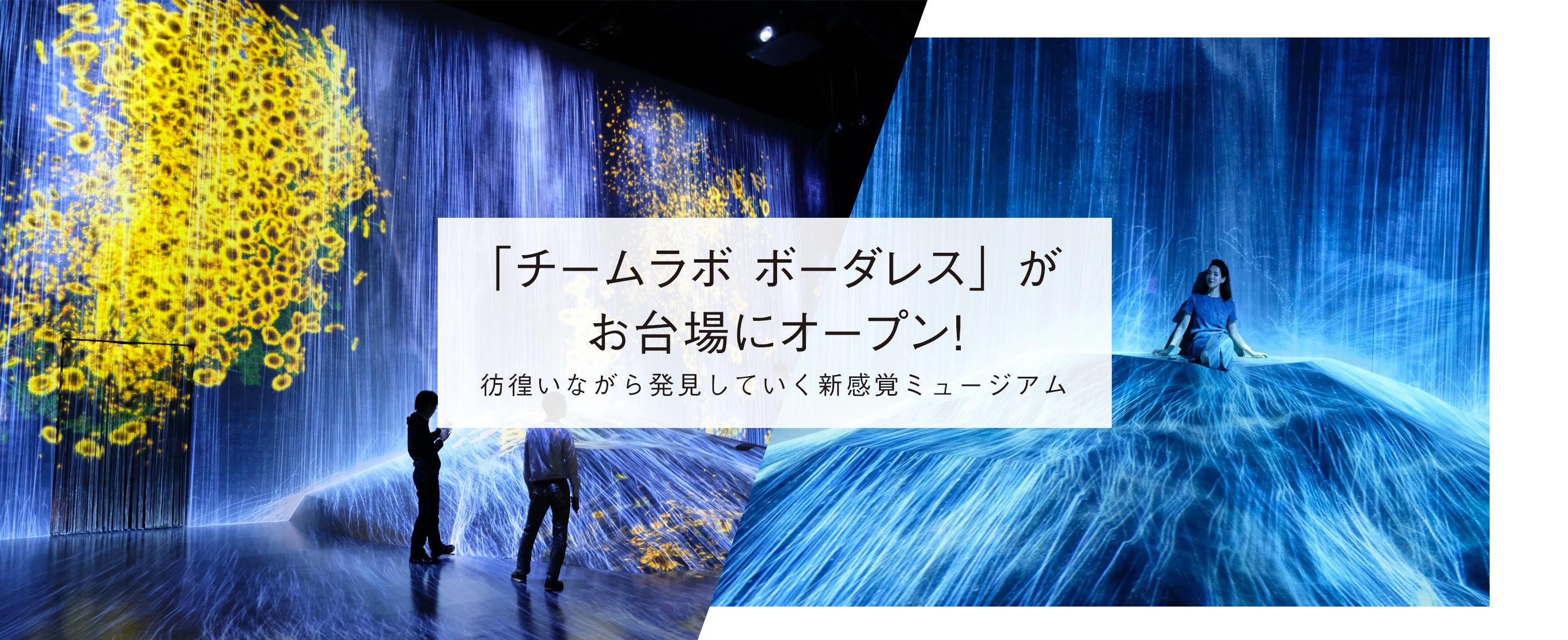 彷徨いながら発見していく新感覚ミュージアム「チームラボ ボーダレス」がお台場にオープン!