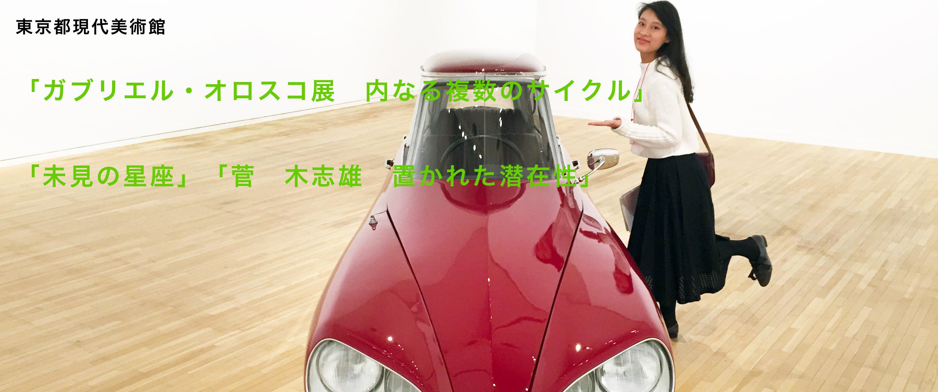 東京都現代美術館「ガブリエル・オロスコ展 内なる複数のサイクル」 「未見の星座」「菅 木志雄 置かれ