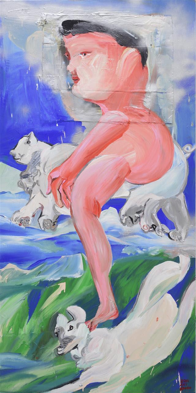 絵は未来を紡ぐ種 近藤亜樹 個展「飛べ、こぶた」