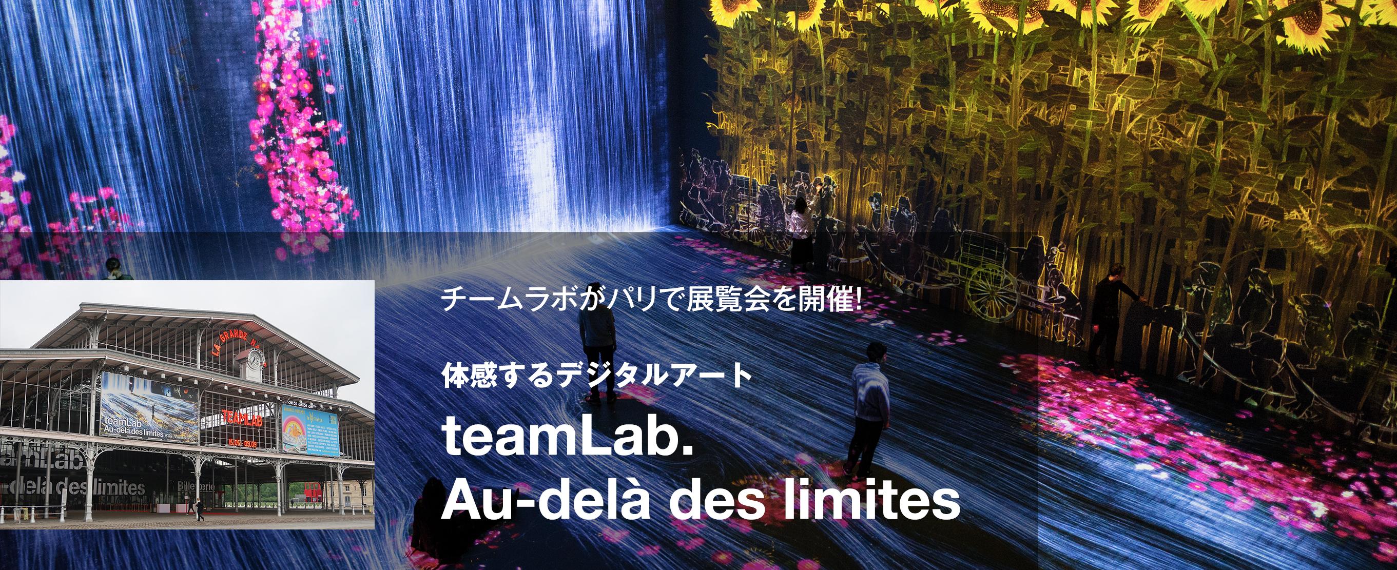 チームラボがパリで展覧会を開催!体感するデジタルアート『teamLab : Au-delà des