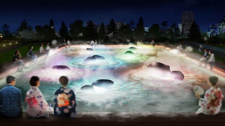 【WOW】新作インスタレーション「光と霧のデジタルアート庭園」